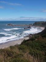 Beach Punakaiki, New Zealand photo