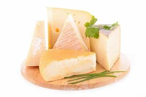 variedad de quesos a bordo foto