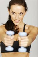 Woman in fitness photo