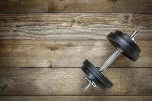 exercise concept - iron dumbbell