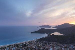 Oludeniz, Fethiye, Turkey at sunset photo