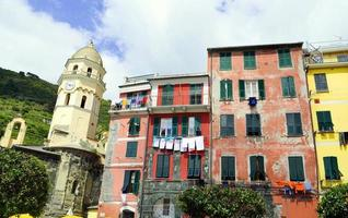 Vernazza typical houses national park 5 terre
