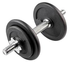 Dumbbell for physical exercise isolated on white.