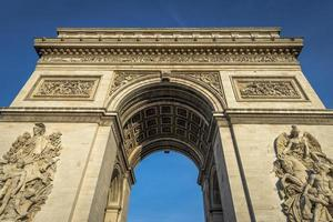 Arc de Triomphe in a clear day