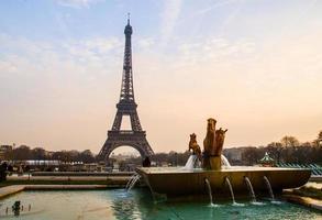 Eiffel tower in evenfall photo