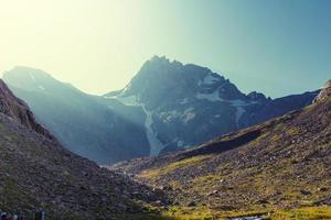 caucasian mountain valley photo