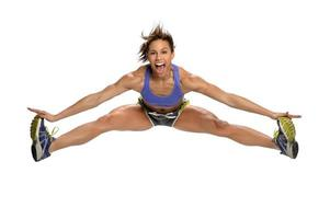 African American Woman Jumping photo