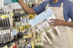 African American clerk working