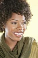 retrato de una mujer afroamericana foto