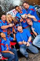 Football fans tailgating photo