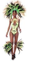 African carnival over white photo