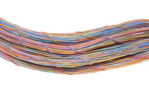 Swirl of computer network cables photo