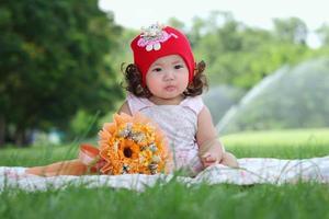 Little asian girl