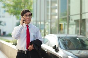 Handsome Asian businessman