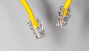 Lan cable close up