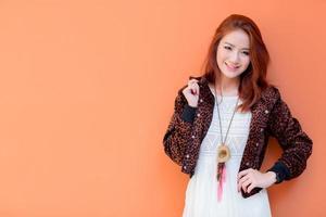 hermosa chica asiática