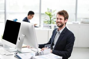 Cheerful businessman photo
