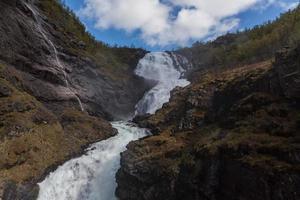 Waterfall Kjosfossen in the mountains of Norway