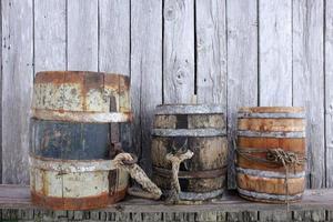 Old barrels photo