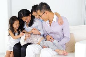 familia asiática foto