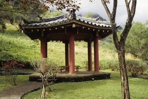 Aziatische tuinhuisje