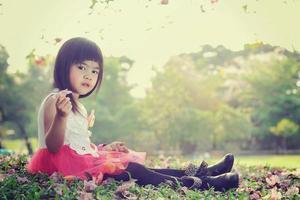 niña asiatica foto