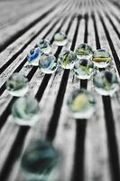 canicas de vidrio foto