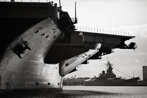 USS Ronald Regan over USS Missouri photo