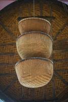 cestas de paja asiáticas