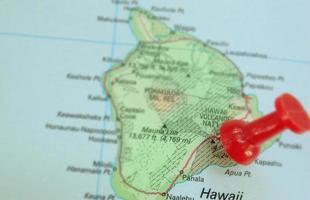 mapa hawaiano foto