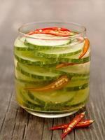 asian cucumber pickle photo