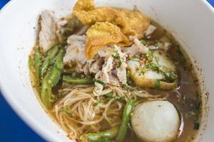 Asian pork noodles photo