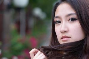linda mulher asiática