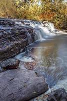 perfil lateral de la cascada de Darnley foto
