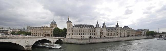 Seine River in Paris, France. Panarama photo