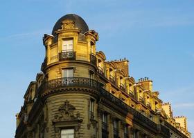 Facade Of 19th Century Style Building in Paris photo