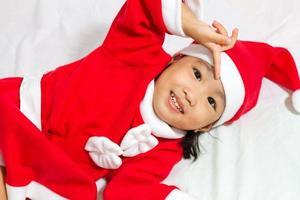 Asian Chinese Santa Girl photo