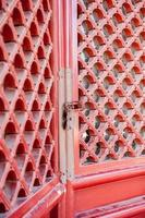 Asian Red shutter doors