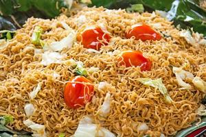 asian food, fried noodles photo