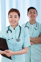 Asian doctors before work
