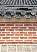 Asian roof and wall