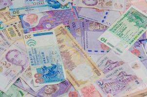 muitos da moeda asiática