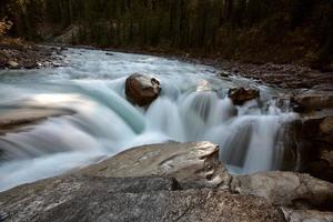 Sunwapta cae en el Parque Nacional Jasper