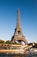 EU emblem in the Eiffel Tower