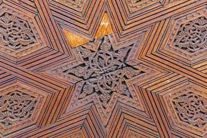 Traditional Moroccan carved wood panel