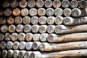 postes de madera foto