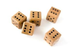 Dices isolated photo