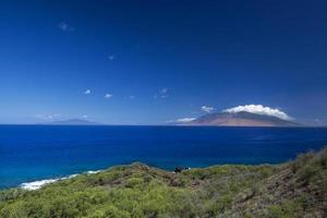 West Maui Mountains from south shore, Hawaii, USA