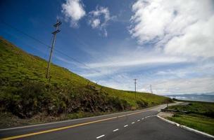 Bright morning on Saddle Highway, Big Island photo
