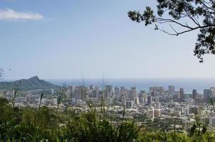 High view of Diamond Head and Waikiki photo